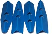 Cabinet Protectors (set of 4) - Light Blue