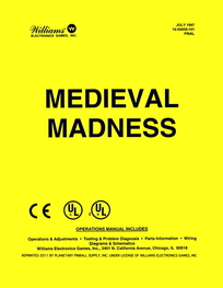 Medieval Madness (Williams) - Manual