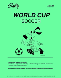 World Cup Soccer (Bally) - Manual