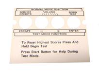 Williams/Bally Service Button Decal