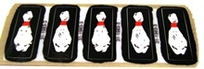Flintstones - Bowling Pin Decals (5 pcs)