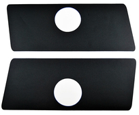 Flipper Button Cabinet Protectors - Black with hole (pair)