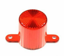 Plastic Light Dome, screw tabs - Red