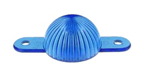 Plastic Mini Light Domes With Screw Tabs - Blue