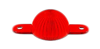Plastic Mini Light Domes With Screw Tabs - Red