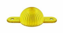 Plastic Mini Light Domes With Screw Tabs - Yellow