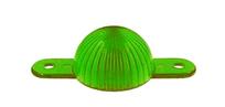 Plastic Mini Light Dome, skruvfäste - Grön