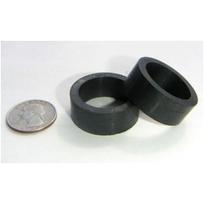 Flippergummi, mini svart