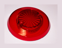 Sun Burst Bumper Cap - Red Transparent