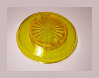 Sun Burst Bumper Cap - Yellow Transparent
