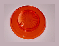 Sun Burst Bumper Cap - Orange Transparent