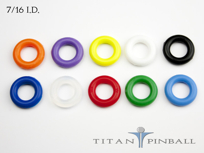 "Titan Competition Silicone Rings 7/16"" ID"