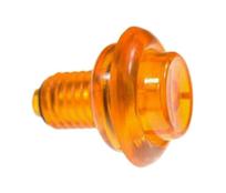 Flipper Button - Translucent Orange