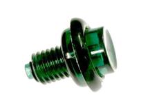 Flipper Button - Translucent Green