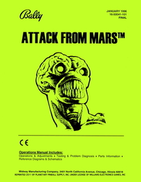 Attack from Mars (Bally) - Manual