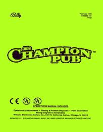Champion Pub (Bally) - Manual