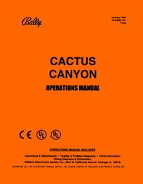 Cactus Canyon (Bally) - Manual