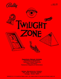 Twilight Zone (Bally) - Manual