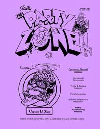 Party Zone (Bally) - Manual