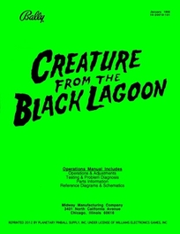 Creature from the Black Lagoon (Bally) - Manual
