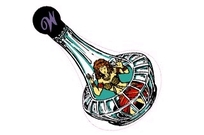 Tales of the Arabian Nights - Genie in bottle decal