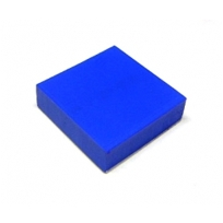 """1"""" Square Blue Rubber Pad With Adhesive Backing"""