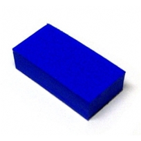 """1/2"""" x 1"""" x 1/4"""" Blue Rubber Pad With Adhesive Backing"""