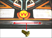 Brass Lockdown Bar Adjuster Screw