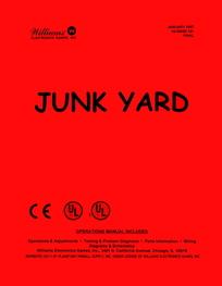 Junk Yard (Williams) - Manual