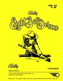 Eight Ball Deluxe (Bally) - Manual