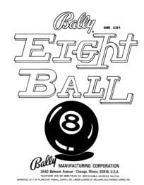 Eight Ball (Bally) - Manual