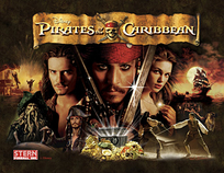 Pirates of the Caribbean - PREMIUM NON-GHOSTING LED Playfield kit