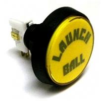 "Bally ""Launch Ball"" Button - Yellow"