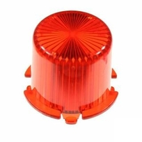 Plastic Light Dome, twist on - Red