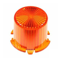 Plastic Light Dome, vridfäste - Amber