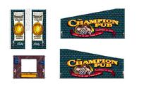 Champion Pub - Kabinettdekaler